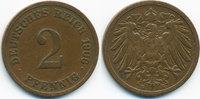 2 Pfennig 1906 E Kaiserreich großer Adler - Kupfer sehr schön - leicht ... 1,40 EUR  +  1,80 EUR shipping