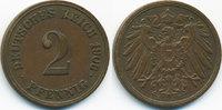 2 Pfennig 1906 E Kaiserreich großer Adler - Kupfer sehr schön+  3,00 EUR  +  1,80 EUR shipping