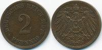 2 Pfennig 1907 E Kaiserreich großer Adler - Kupfer sehr schön+  4,00 EUR  +  1,80 EUR shipping