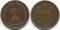 2 Pfennig 1911 A Kaiserreich großer Adler - Kupfer sehr schön/vorzüglic... 1,50 EUR  +  1,80 EUR shipping
