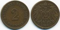 2 Pfennig 1911 J Kaiserreich großer Adler - Kupfer sehr schön  1,80 EUR  +  1,80 EUR shipping
