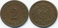 2 Pfennig 1912 A Kaiserreich großer Adler - Kupfer sehr schön - leicht ... 0,60 EUR  +  1,80 EUR shipping