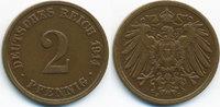 2 Pfennig 1914 J Kaiserreich großer Adler - Kupfer sehr schön/vorzüglic... 7,50 EUR  +  1,80 EUR shipping