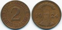 2 Reichspfennig 1924 E Weimarer Republik großer Adler - Kupfer sehr sch... 1,40 EUR  +  1,80 EUR shipping