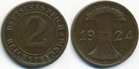 2 Reichspfennig 1924 F Weimarer Republik großer Adler - Kupfer sehr sch... 2,20 EUR  +  1,80 EUR shipping