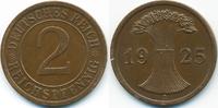 2 Reichspfennig 1925 A Weimarer Republik großer Adler - Kupfer vorzügli... 2,00 EUR  +  1,80 EUR shipping