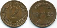 2 Reichspfennig 1925 E Weimarer Republik großer Adler - Kupfer vorzügli... 3,50 EUR  +  1,80 EUR shipping