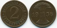 2 Reichspfennig 1936 F Weimarer Republik großer Adler - Kupfer fast vor... 2,80 EUR  +  1,80 EUR shipping