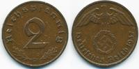 2 Reichspfennig 1937 D Drittes Reich Kupfer sehr schön+ - Kratzer  1,00 EUR  +  1,80 EUR shipping