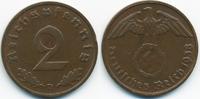 2 Reichspfennig 1938 D Drittes Reich Kupfer sehr schön+ - etwas schwach... 1,00 EUR  +  1,80 EUR shipping