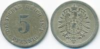 5 Pfennig 1874 D Kaiserreich kleiner Adler - Kupfer/Nickel schön+ - etw... 2,80 EUR  +  1,80 EUR shipping