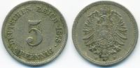 5 Pfennig 1875 F Kaiserreich kleiner Adler - Kupfer/Nickel fast sehr sc... 2,00 EUR  +  1,80 EUR shipping