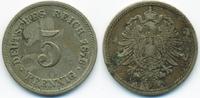 5 Pfennig 1876 A Kaiserreich kleiner Adler - Kupfer/Nickel schön/sehr s... 1,00 EUR  +  1,80 EUR shipping