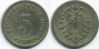 5 Pfennig 1876 G Kaiserreich kleiner Adler - Kupfer/Nickel schön/sehr s... 2,50 EUR  +  1,80 EUR shipping