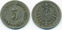 5 Pfennig 1888 F Kaiserreich kleiner Adler - Kupfer/Nickel schön/sehr s... 4,00 EUR  +  1,80 EUR shipping