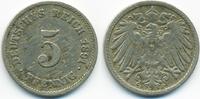 5 Pfennig 1891 F Kaiserreich großer Adler - Kupfer/Nickel fast sehr sch... 5,00 EUR  +  1,80 EUR shipping