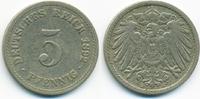 5 Pfennig 1892 A Kaiserreich großer Adler - Kupfer/Nickel sehr schön  1,80 EUR  +  1,80 EUR shipping