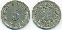 5 Pfennig 1900 D Kaiserreich großer Adler - Kupfer/Nickel sehr schön+  2,40 EUR  +  1,80 EUR shipping