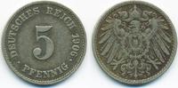 5 Pfennig 1906 J Kaiserreich großer Adler - Kupfer/Nickel sehr schön  1,20 EUR  +  1,80 EUR shipping
