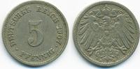 5 Pfennig 1907 E Kaiserreich großer Adler - Kupfer/Nickel sehr schön  1,80 EUR  +  1,80 EUR shipping