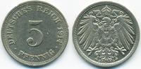 5 Pfennig 1914 D Kaiserreich großer Adler - Kupfer/Nickel fast vorzügli... 2,00 EUR  +  1,80 EUR shipping