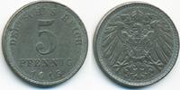 5 Pfennig 1915 A Ersatzmünze 1.WK Eisen prägefrisch - etwas schwache Pr... 7,00 EUR  +  1,80 EUR shipping