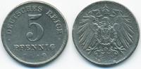 5 Pfennig 1919 D Ersatzmünze 1.WK Eisen sehr schön+ - gereinigt  0,60 EUR  +  1,80 EUR shipping