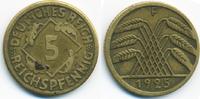 5 Reichspfennig 1925 F Weimarer Republik Kupfer/Aluminium - kleine 5 se... 0,60 EUR  +  1,80 EUR shipping