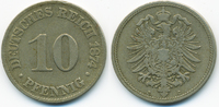 10 Pfennig 1874 C Kaiserreich kleiner Adler - Kupfer/Nickel sehr schön+... 1,80 EUR  +  1,80 EUR shipping