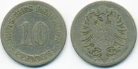 10 Pfennig 1875 F Kaiserreich kleiner Adler - Kupfer/Nickel schön  1,40 EUR  +  1,80 EUR shipping