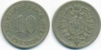10 Pfennig 1889 D Kaiserreich kleiner Adler - Kupfer/Nickel schön/sehr ... 2,00 EUR  +  1,80 EUR shipping