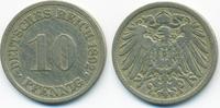 10 Pfennig 1892 F Kaiserreich großer Adler - Kupfer/Nickel fast sehr sc... 5,00 EUR  +  1,80 EUR shipping