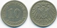 10 Pfennig 1904 G Kaiserreich großer Adler - Kupfer/Nickel sehr schön  5,50 EUR  +  1,80 EUR shipping