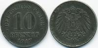 10 Pfennig 1917 D Ersatzmünze 1.WK Eisen fast vorzüglich  2,20 EUR  +  1,80 EUR shipping