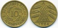 10 Reichspfennig 1924 A Weimarer Republik Kupfer/Aluminium sehr schön  0,80 EUR  +  1,80 EUR shipping