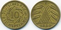 10 Reichspfennig 1929 E Weimarer Republik Kupfer/Aluminium sehr schön+  3,40 EUR  +  1,80 EUR shipping