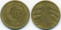 10 Reichspfennig 1929 G Weimarer Republik Kupfer/Aluminium sehr schön+  4,50 EUR  +  1,80 EUR shipping