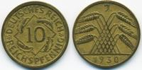 10 Reichspfennig 1930 J Weimarer Republik Kupfer/Aluminium sehr schön+  8,50 EUR  +  1,80 EUR shipping