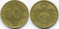 10 Reichspfennig 1939 F Drittes Reich Kupfer/Aluminium sehr schön+  2,00 EUR  +  1,80 EUR shipping