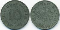 10 Reichspfennig 1942 F Drittes Reich Zink sehr schön+ - minimal fleckig  3,00 EUR  +  1,80 EUR shipping