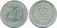 20 Pfennig 1876 E Kaiserreich kleiner Adler - Silber fast sehr schön  9,00 EUR  +  1,80 EUR shipping