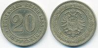 20 Pfennig 1888 A Kaiserreich kleiner Adler - Kupfer/Nickel sehr schön/... 23,00 EUR  +  4,80 EUR shipping