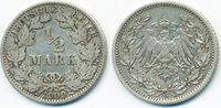 1/2 Mark 1909 G Kaiserreich Silber sehr schön - kleine Kratzer  6,00 EUR  +  1,80 EUR shipping