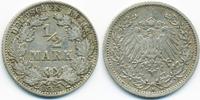 1/2 Mark 1911 A Kaiserreich Silber knapp sehr schön  2,20 EUR  +  1,80 EUR shipping