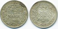 1/2 Mark 1914 A Kaiserreich Silber sehr schön+  2,40 EUR  +  1,80 EUR shipping