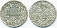 1 Mark 1910 F Kaiserreich großer Adler - Silber vorzüglich+ - matt  10,00 EUR  +  1,80 EUR shipping