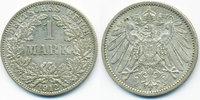 1 Mark 1912 A Kaiserreich großer Adler - Silber fast vorzüglich  6,00 EUR  +  1,80 EUR shipping