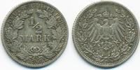 1/2 Mark 1908 G Kaiserreich Silber gutes sehr schön  9,00 EUR  +  1,80 EUR shipping