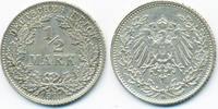 1/2 Mark 1911 D Kaiserreich Silber fast vorzüglich  9,50 EUR  +  1,80 EUR shipping