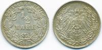1/2 Mark 1912 D Kaiserreich Silber fast vorzüglich - winziger Randfehler  9,00 EUR  +  1,80 EUR shipping